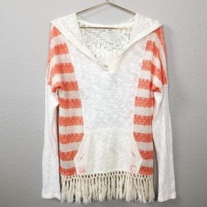Miss Me Knit Hoody with Fringe